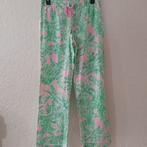 Lilly Pulitzer pajama pant pink sand Paradise sz S